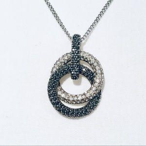 Judith Jack Pave Knot Pendant Necklace